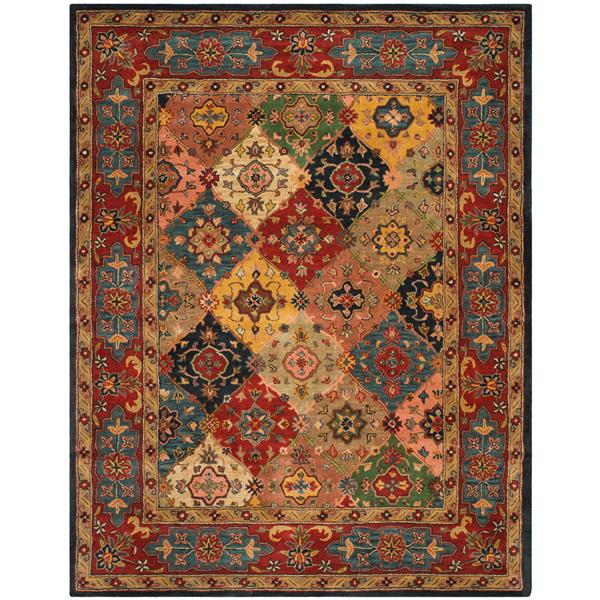 Safavieh Heritage Rug - 9.5' x 13.5' - Wool - Red/Multi
