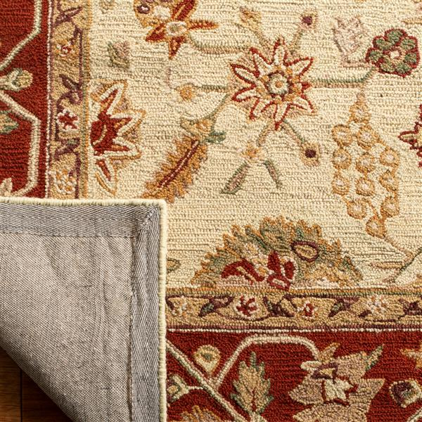 Safavieh Chelsea Rug - 8.8' x 11.8' - Wool - Ivory/Rust