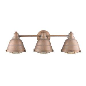 Bartlett 3-Light Bath Light Vanity - Copper