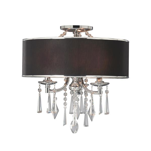 Golden Lighting Echelon Semi-Flush Convertible Light - Chrome