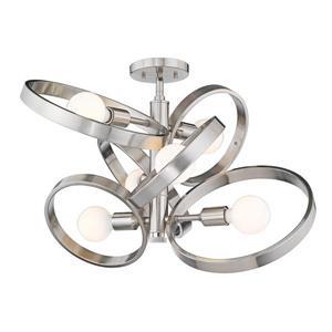 Golden Lighting Sloane 6-Light Semi-Flush Light - Pewter