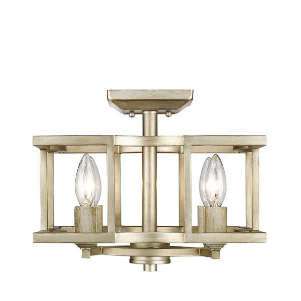 Golden Lighting Bellare Convertible Semi-Flush Light - White Gold