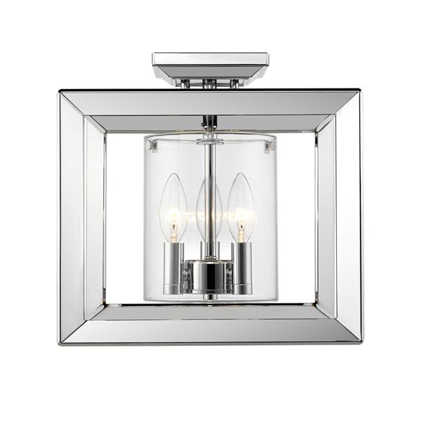 Golden Lighting Smyth Semi-Flush Low Profile Light - Chrome