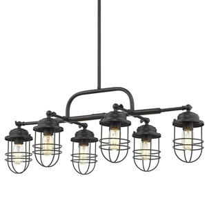 Golden Lighting Seaport Linear Pendant Light - Black