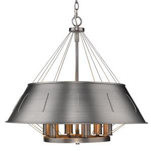 Golden Lighting Whitaker 6-Light Pendant Light - Aged Steel