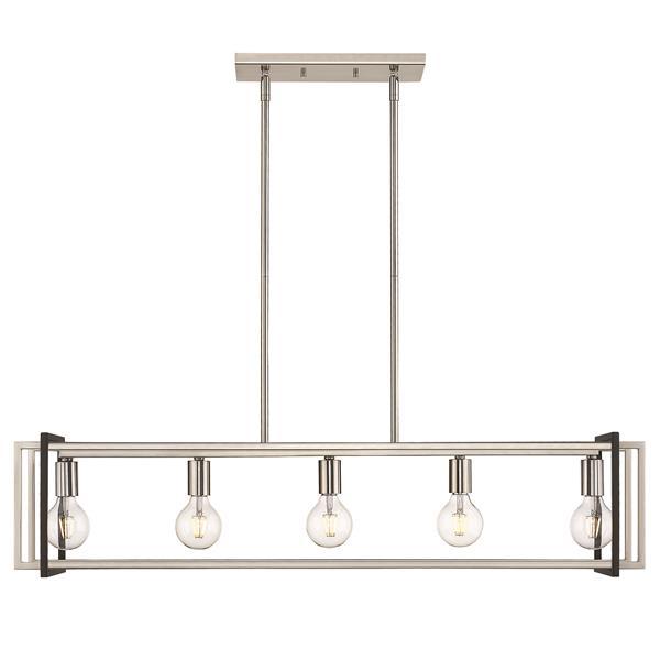 Golden Lighting Tribeca Linear Pendant Light - Pewter/Black
