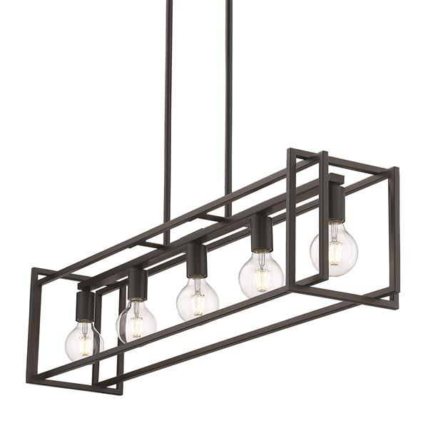 Golden Lighting Tribeca Linear Pendant Light - Black