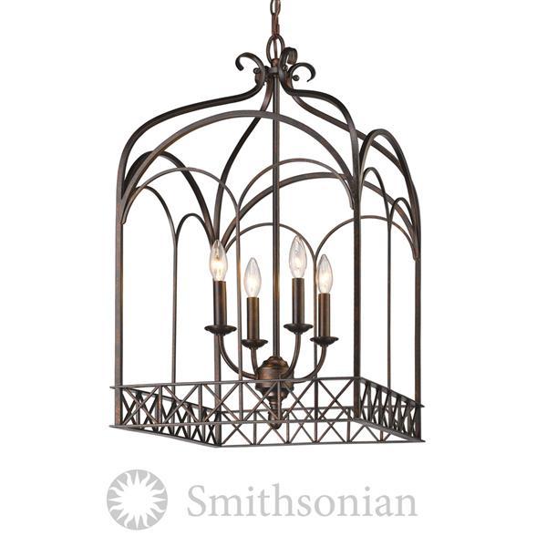 Golden Lighting SmithsonianGateway 4-Light Pendant Light - Fired Bronze