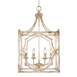 Golden Lighting Laurent 4-Light Pendant Light - Antique Ivory