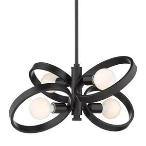 Golden Lighting Sloane 4-Light Chandelier - Black