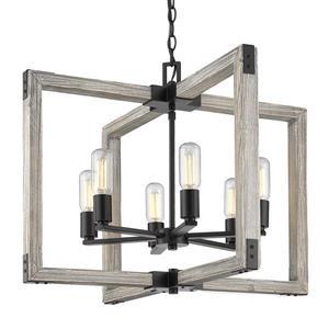 Golden Lighting Lowell 6-Light Chandelier - Black