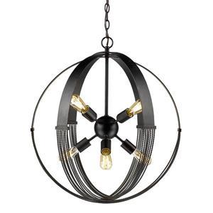Golden Lighting Carter 8-Light Pendant - Aged Bronze
