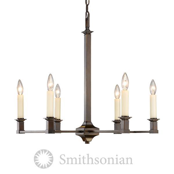 Golden Lighting Smithsonian Bradley 6-Light Chandelier - Cordoban Bronze