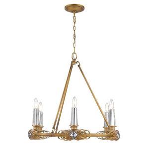 Golden Lighting Signet 6-Light Chandelier - Royal Gold