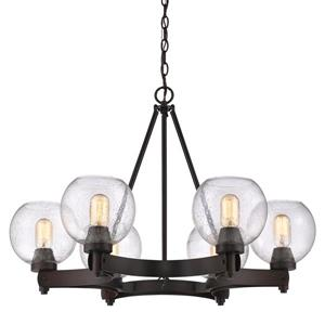 Golden Lighting Galveston 6-Light Chandelier with Glass - Bronze