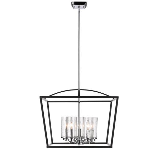 Golden Lighting Mercer 5-Light Chandelier with Glass - Black