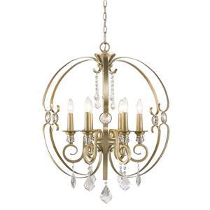 Golden Lighting Ella 6-Light Chandelier - White Gold