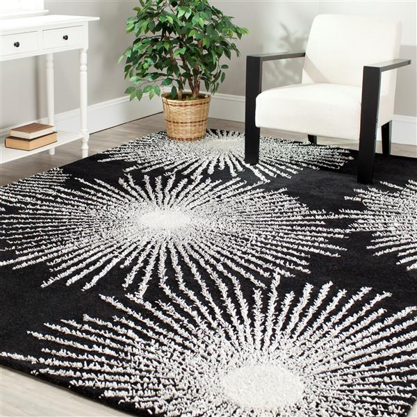 Safavieh Soho Abstract Rug - 8' x 8' - Wool - Black