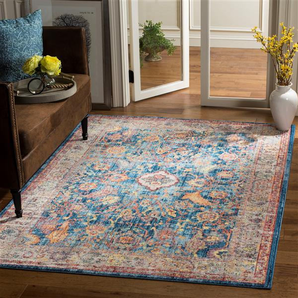 Safavieh Bristol Floral Rug - 3' x 5' - Polyester - Blue