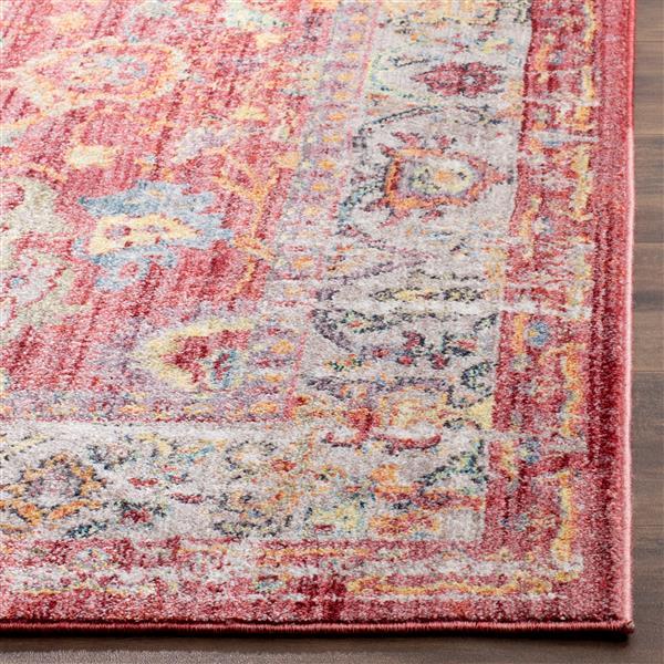 Safavieh Bristol Floral Rug - 2.3' x 8' - Polyester - Pink