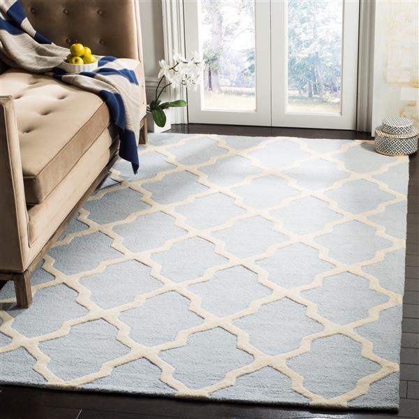 Safavieh Cambridge Trellis Rug - 2' x 3' - Wool - Light Blue