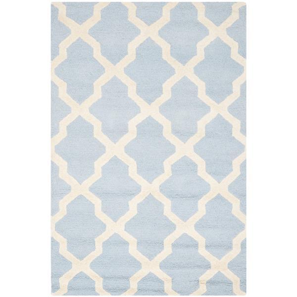 Safavieh Cambridge Trellis Rug - 4' x 6' - Wool - Light Blue
