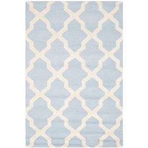 Safavieh Cambridge Trellis Rug - 4' x 6' - Wool - Light Blue