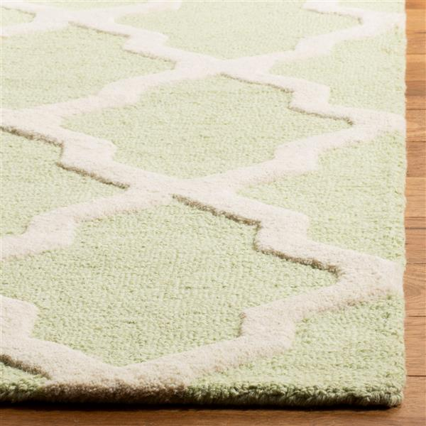 Safavieh Cambridge Trellis Rug - 4' x 6' - Wool - Light Green