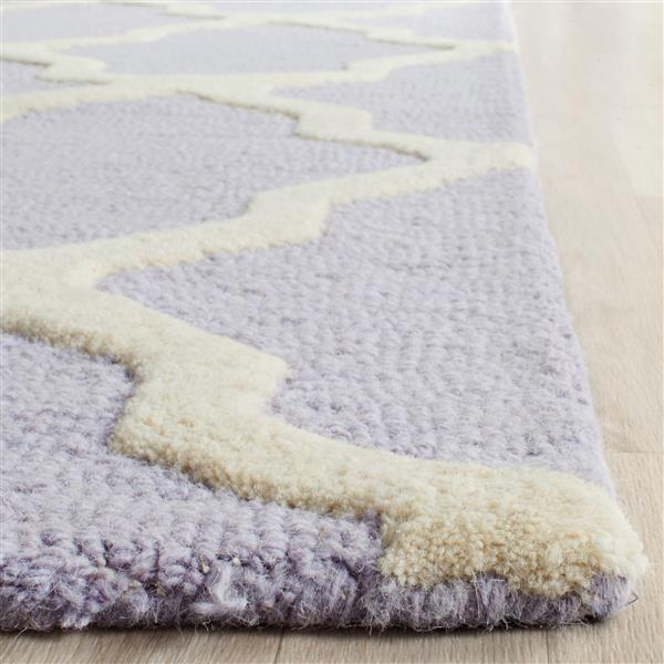 Safavieh Cambridge Trellis Rug - 3' x 5' - Wool - Lavender