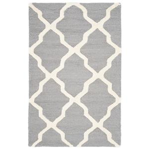 Safavieh Cambridge Trellis Rug - 2.5' x 4' - Wool - Silver