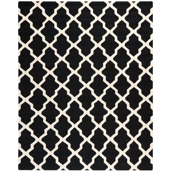 Safavieh Cambridge Trellis Rug - 11' x 15' - Wool - Black