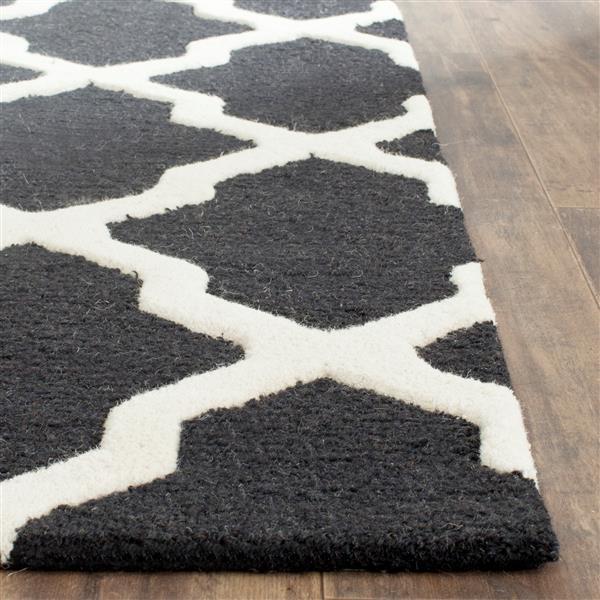 Safavieh Cambridge Trellis Rug - 2.5' x 4' - Wool - Black