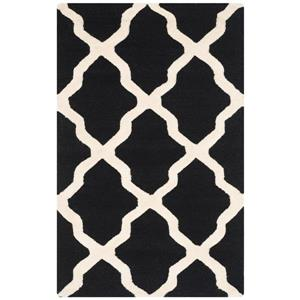 Safavieh Cambridge Trellis Rug - 2.5' x 4' - Wool - Black