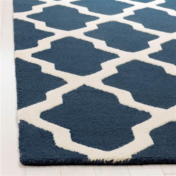 Safavieh Cambridge Trellis Rug - 2.5' x 6' - Wool - Blue