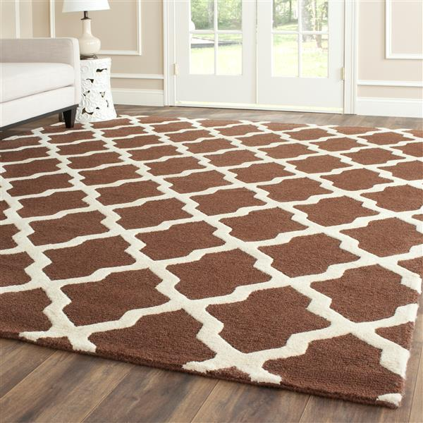 Safavieh Cambridge Trellis Rug - 2.5' x 4' - Wool - Brown