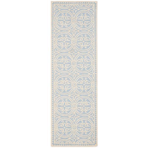 Safavieh Cambridge Abstract Rug - 2.5' x 8' - Wool - Ivory