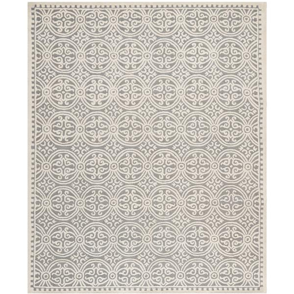Safavieh Cambridge Abstract Rug - 11' x 15' - Wool - Silver
