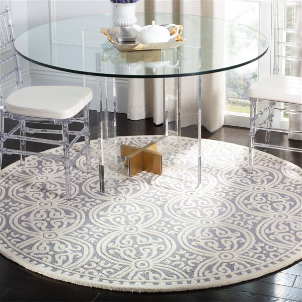 Safavieh Cambridge Abstract Rug - 4' x 4' - Wool - Silver