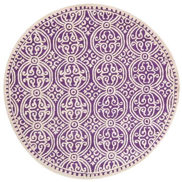 Safavieh Cambridge Abstract Rug - 4' x 4' - Wool - Purple