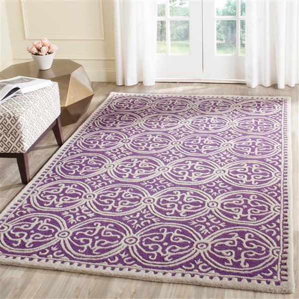 Safavieh Cambridge Abstract Rug - 3' x 5' - Wool - Purple