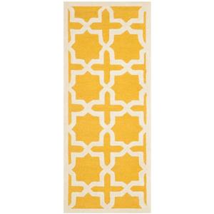Safavieh Cambridge Abstract Rug - 2.5' x 6' - Wool - Gold