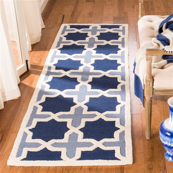 Safavieh Cambridge Abstract Rug - 2.5' x 6' - Wool - Blue