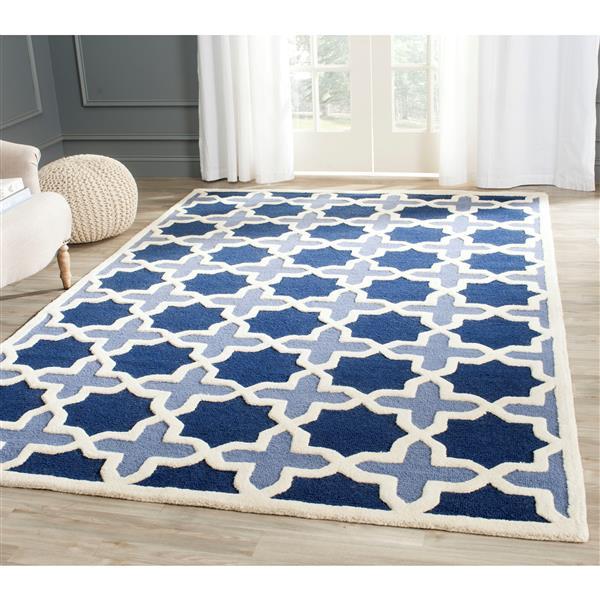 Safavieh Cambridge Abstract Rug - 3' x 5' - Wool - Blue