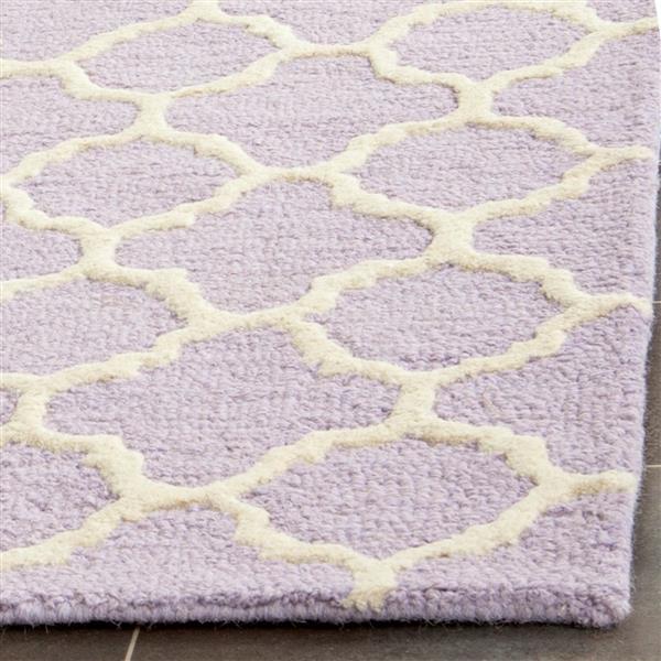 Safavieh Cambridge Trellis Rug - 2.5' x 8' - Wool - Purple