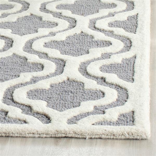 Safavieh Cambridge Trellis Rug - 11' x 15' - Wool - Silver