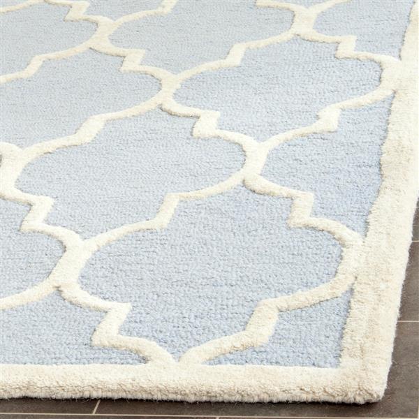 Safavieh Cambridge Trellis Rug - 11' x 15' - Wool - Light Blue