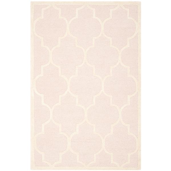 Safavieh Cambridge Trellis Rug - 3' x 5' - Wool - Light Pink