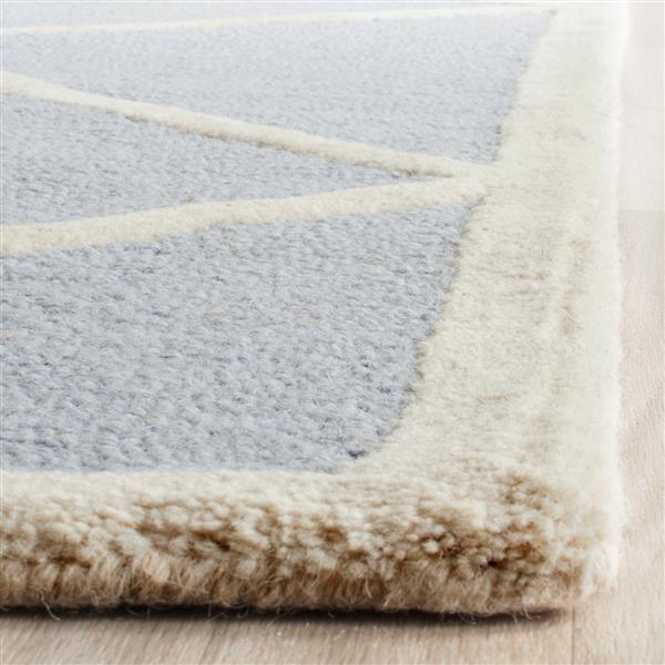 Safavieh Cambridge Geometric Rug - 2.5' x 8' - Wool - Blue