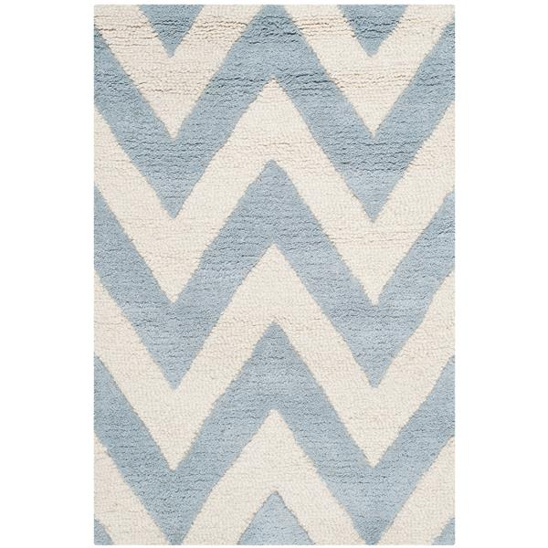 Safavieh Cambridge Chevron Rug - 2' x 3' - Wool - Light Blue