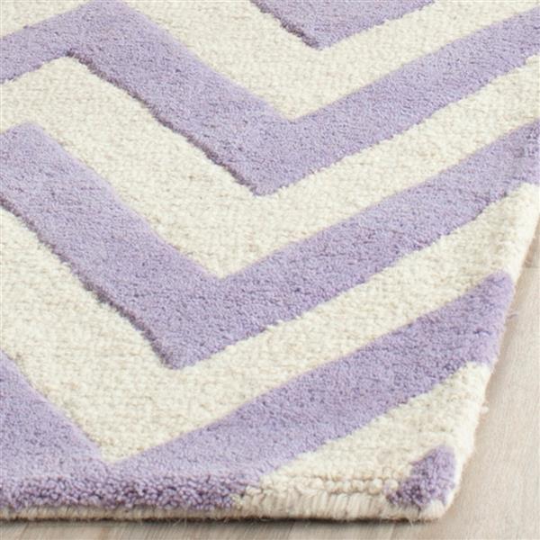 Safavieh Cambridge Chevron Rug - 3' x 5' - Wool - Lavender